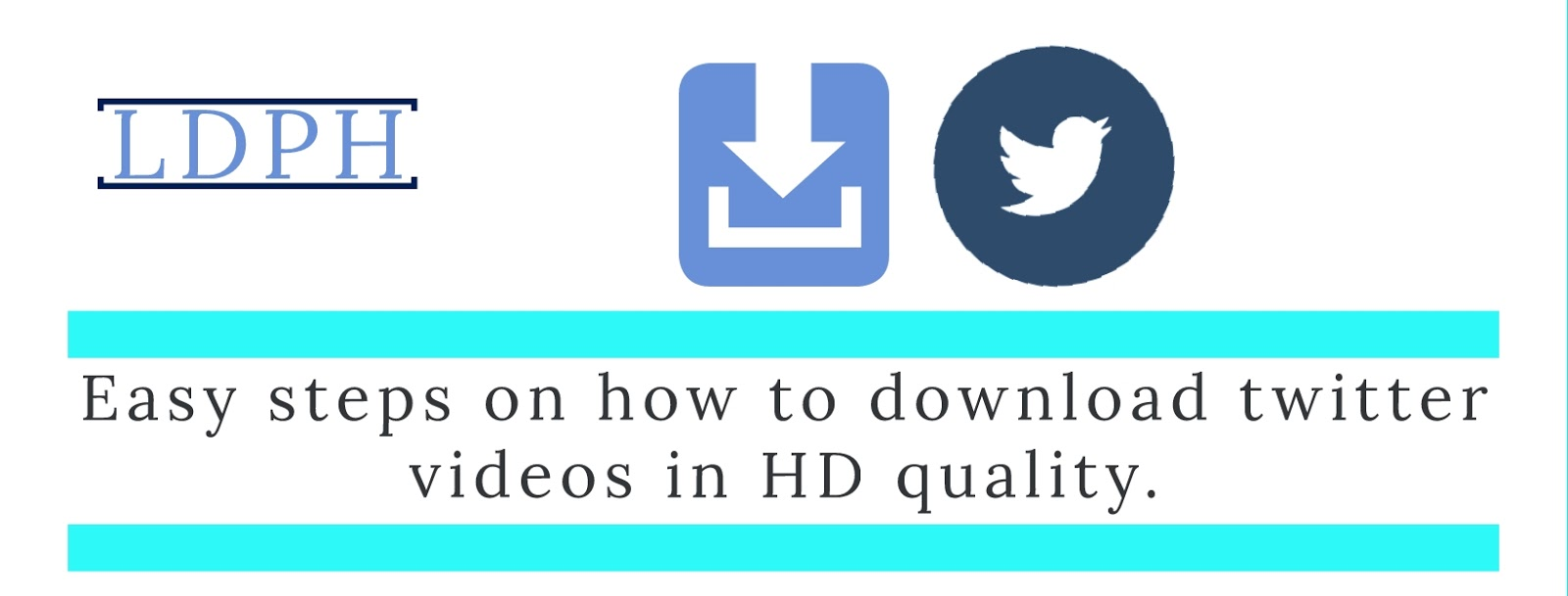 How to Save twitter videos and images.