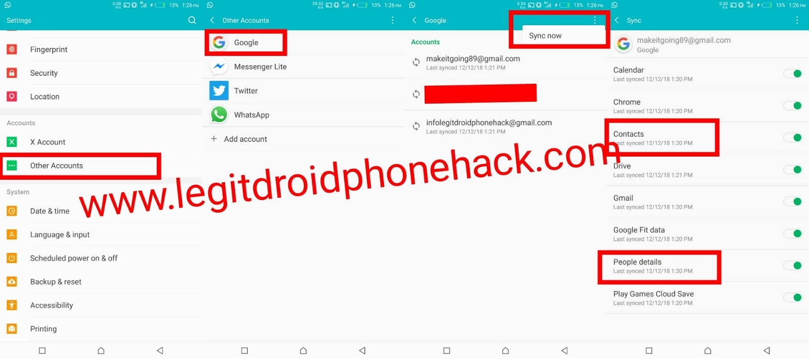 How to backup your contacts and messages for easy restore.