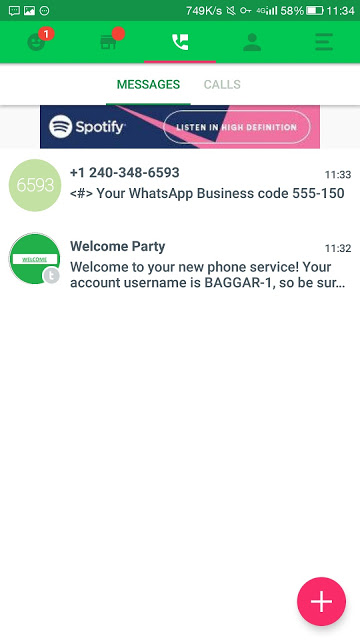 How to get free US working whatsapp number