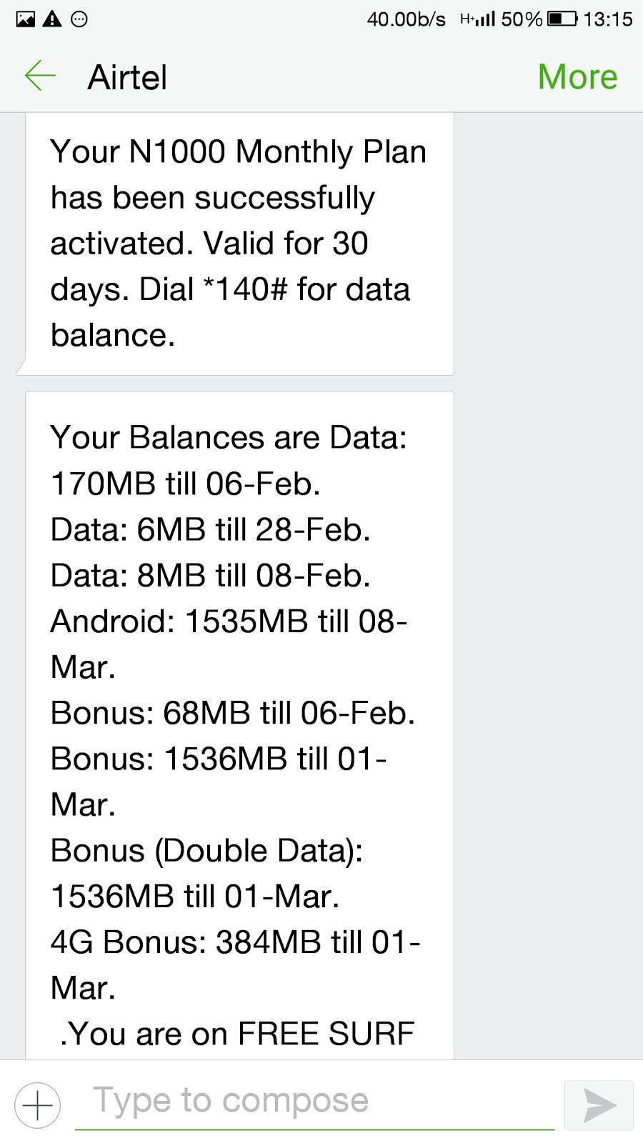 How to activate airtel triple data