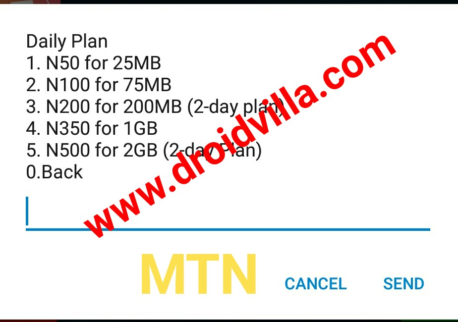 MTN 2gb for N500 2019