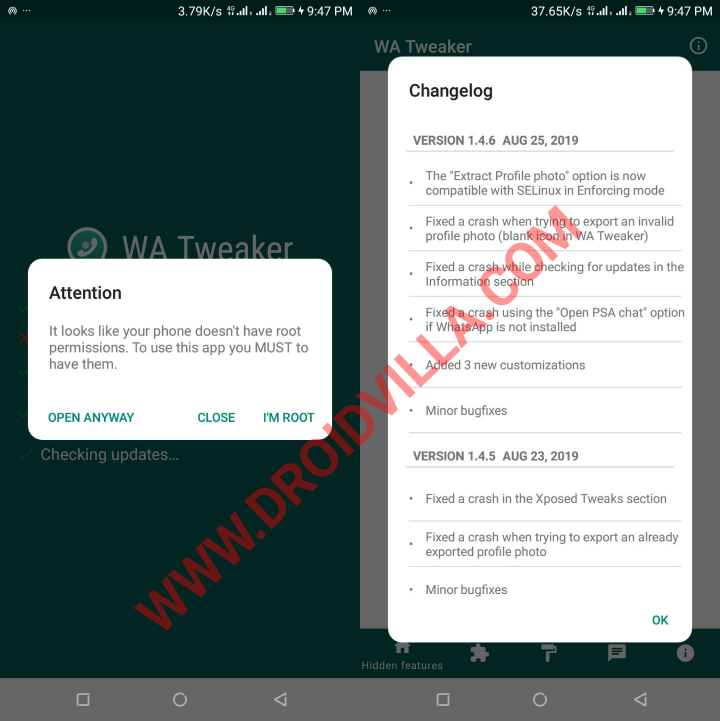 Hot: WA Tweaker 1.4.6 for Android