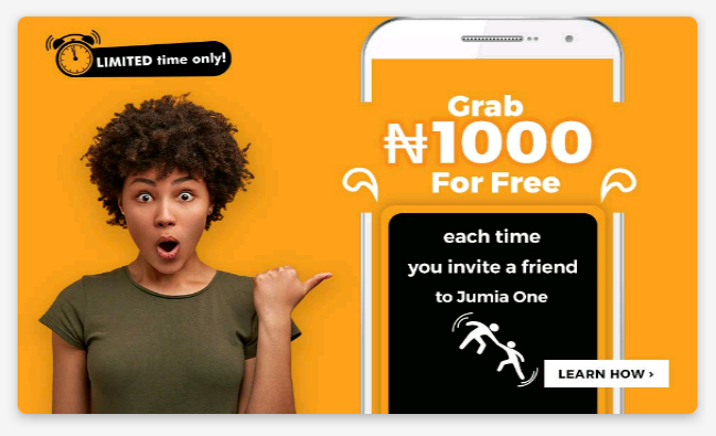 How to Get N1000 Cashback by Inviting Friends to Use Jumia One