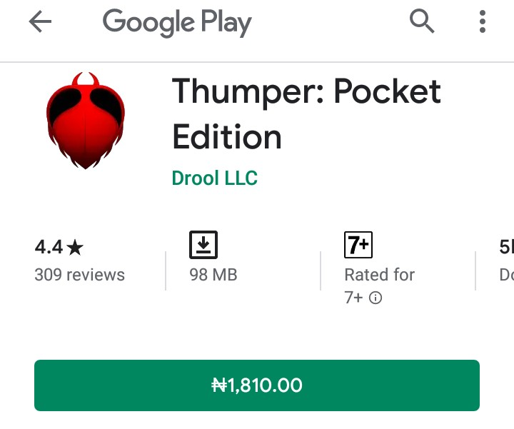 Download Thumper Pocket Edition apk PAID