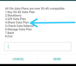 HOW TO SHARE DATA FOR GLO USERS
