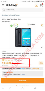 Android mobile with 64gig ROM and a 4gig RAM for as low N38, 000 only: Check it out