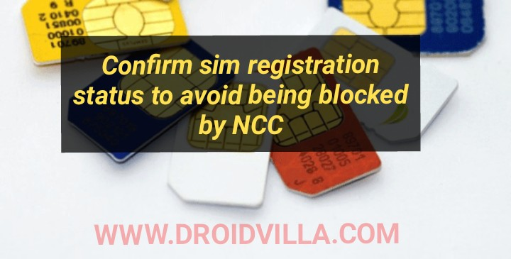 NCC has been ordered to block total of 9.2 million unregistered simcards: see how to confirm registration status