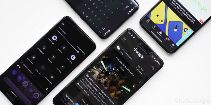 List of all Google applications with dark mode enabled