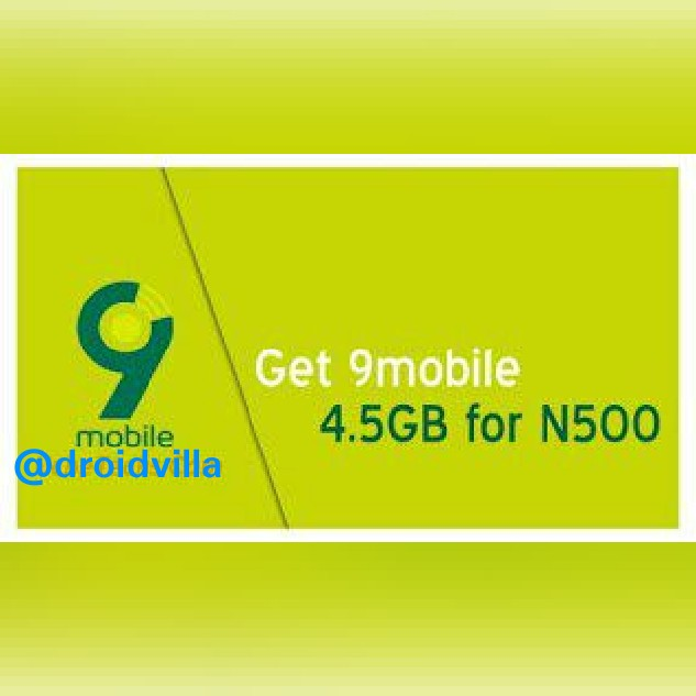 HOW TO GET 4.5 GB FOR 500 ON 9MOBILE