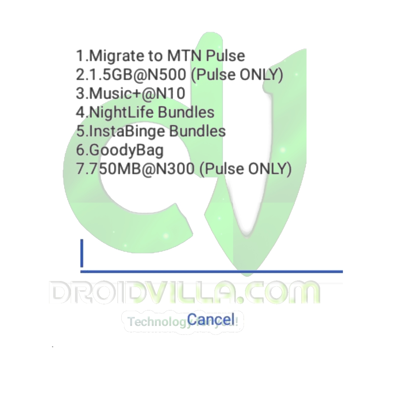 How To Activate MTN 750MB For N300 And 1.5GB For N500 On MTN Pulse Tariff Plan