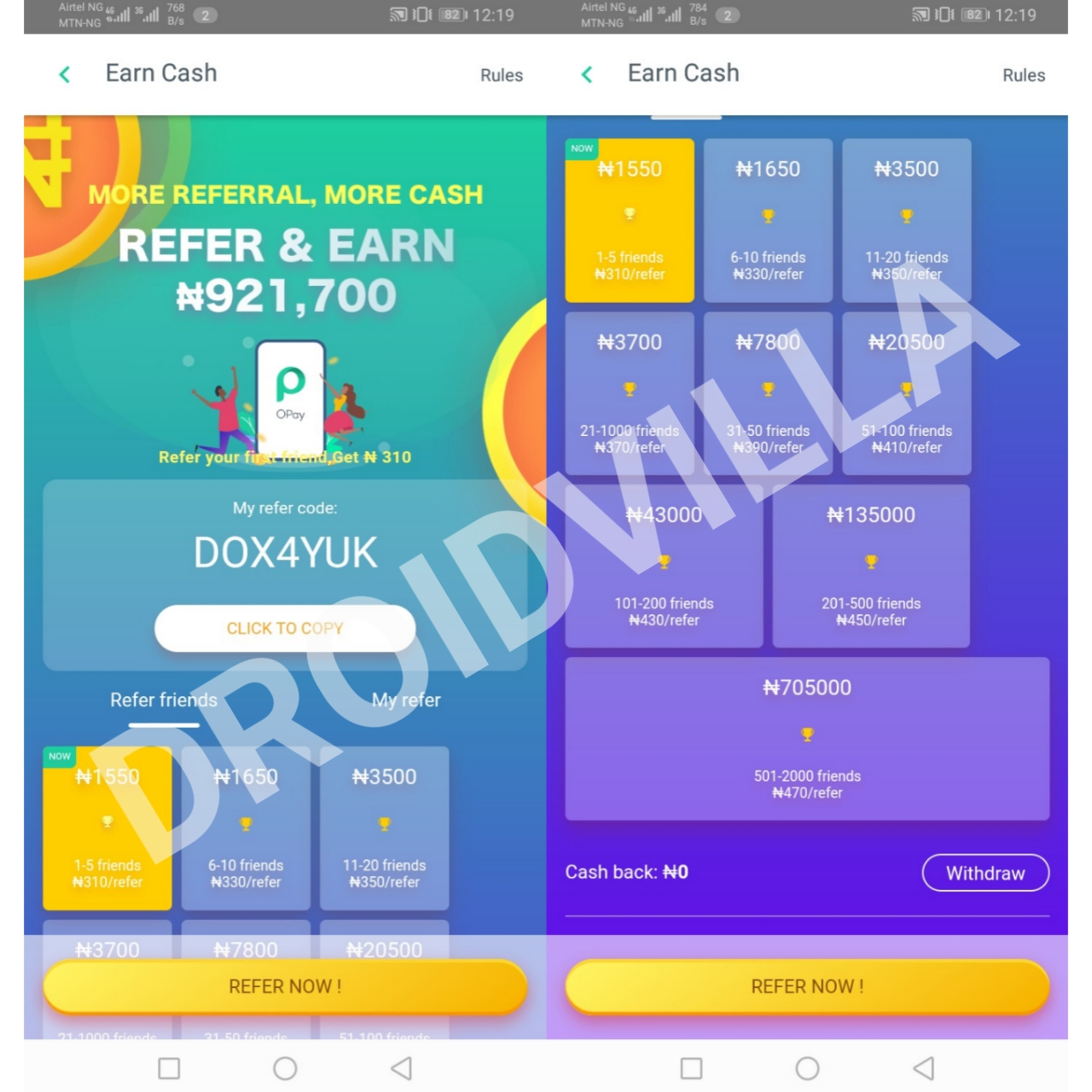 New Update! Refer and earn upto N60, 000 on Opay
