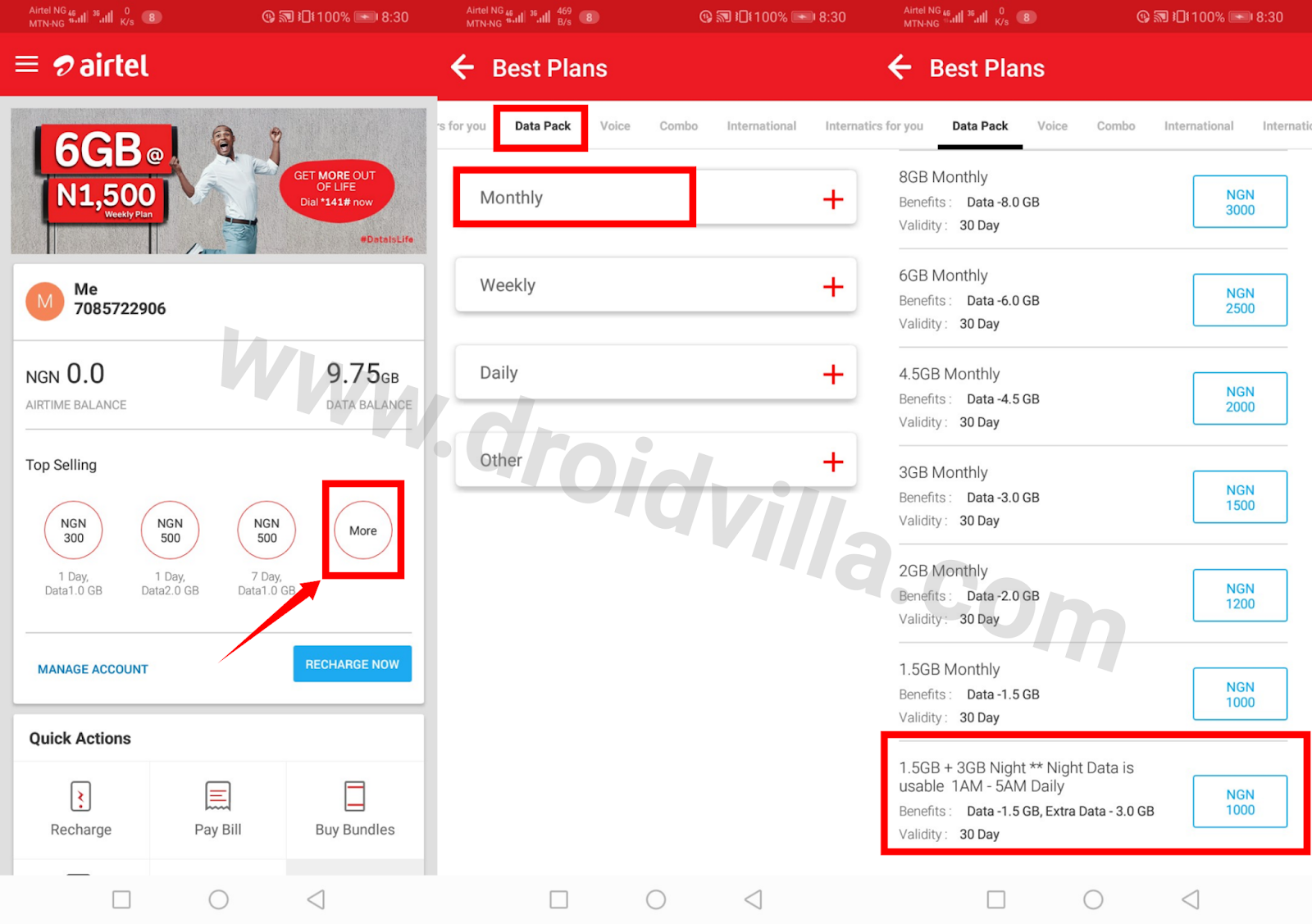 Cheap Airtel Data Offer: How To Subscribe Airtel 9gig for N1000 valid for 30days