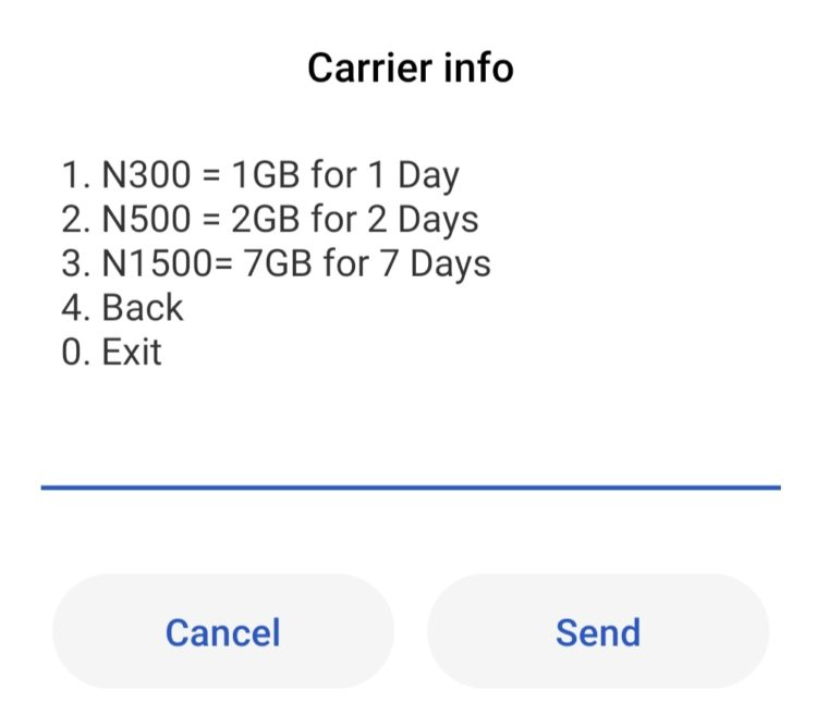 How to activate Glo 7gig  for N1500 droidvilla