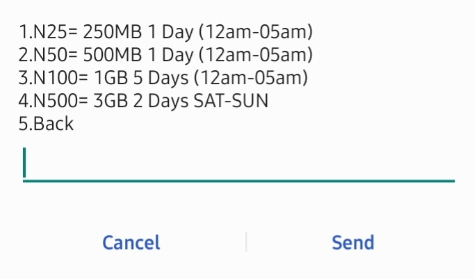How to activate GLO 250mb for N25, 500mb for N50, 1gb for N100 and 3gb for N500