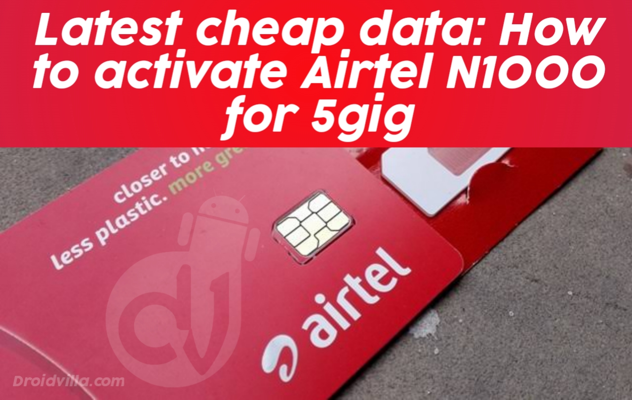How to activate Airtel N1000 for 5gig