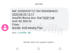 Mtn FCMB n350 for 6gb