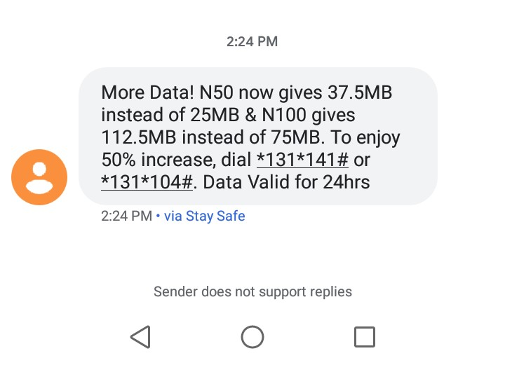 Mtn n50 for 37.5mb