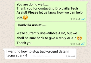 Disable app background data