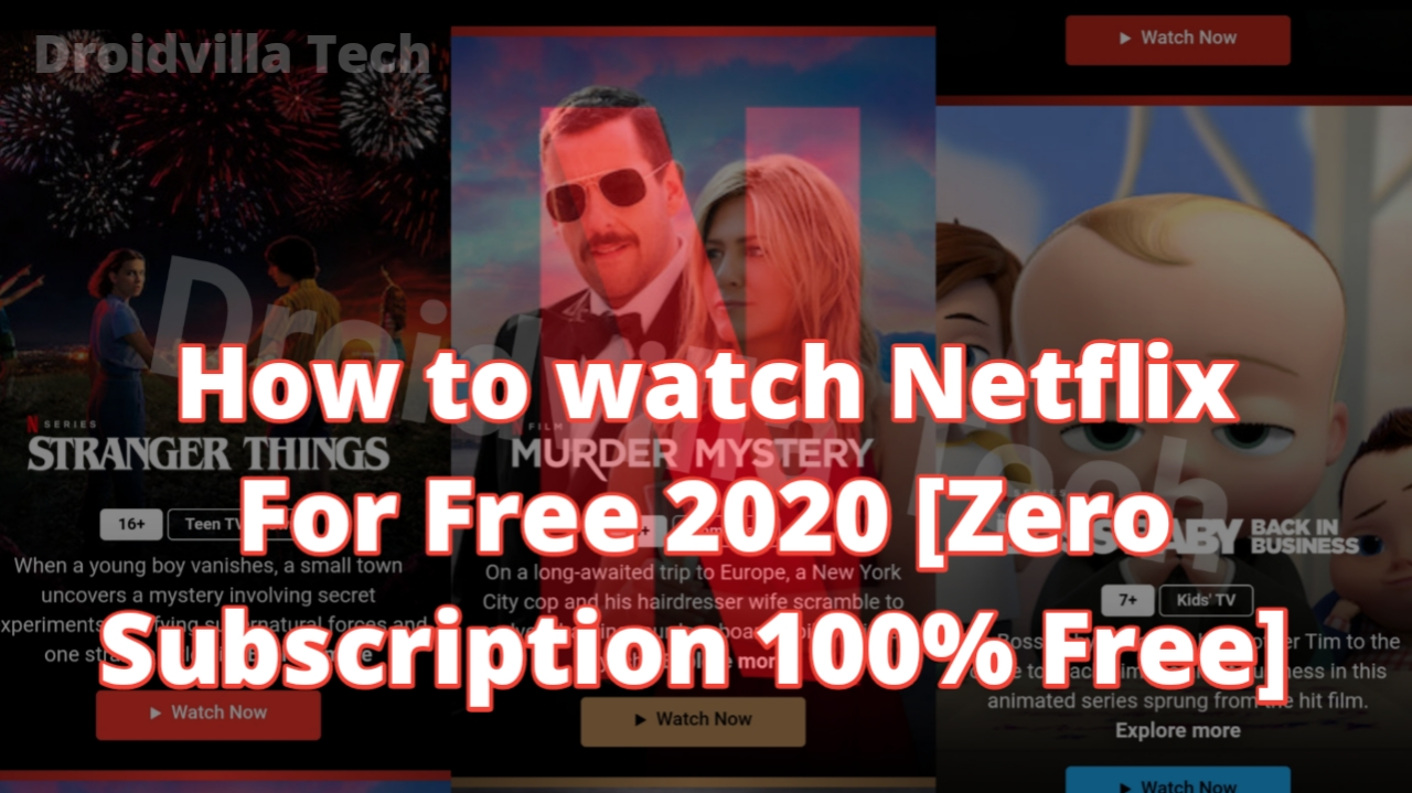 How to watch Netflix For Free Online 2020 [Zero Subscription 100% Free]