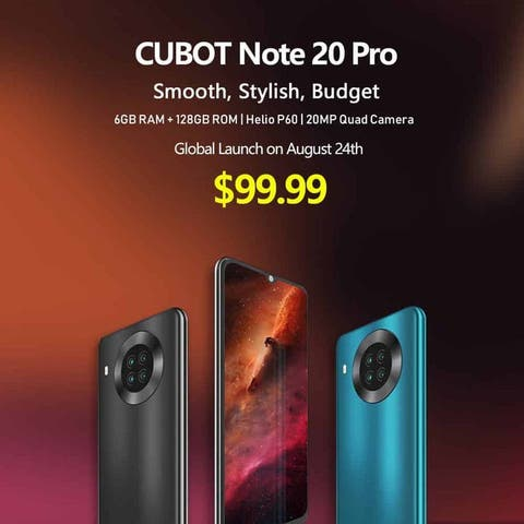 Cubot Note 20 Pro Goes For Just $99.99