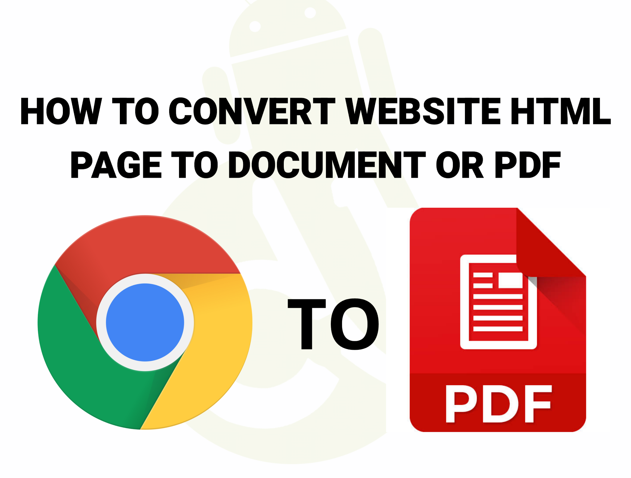 Easy Way To Convert Website HTML Page To Document or PDF In 2021