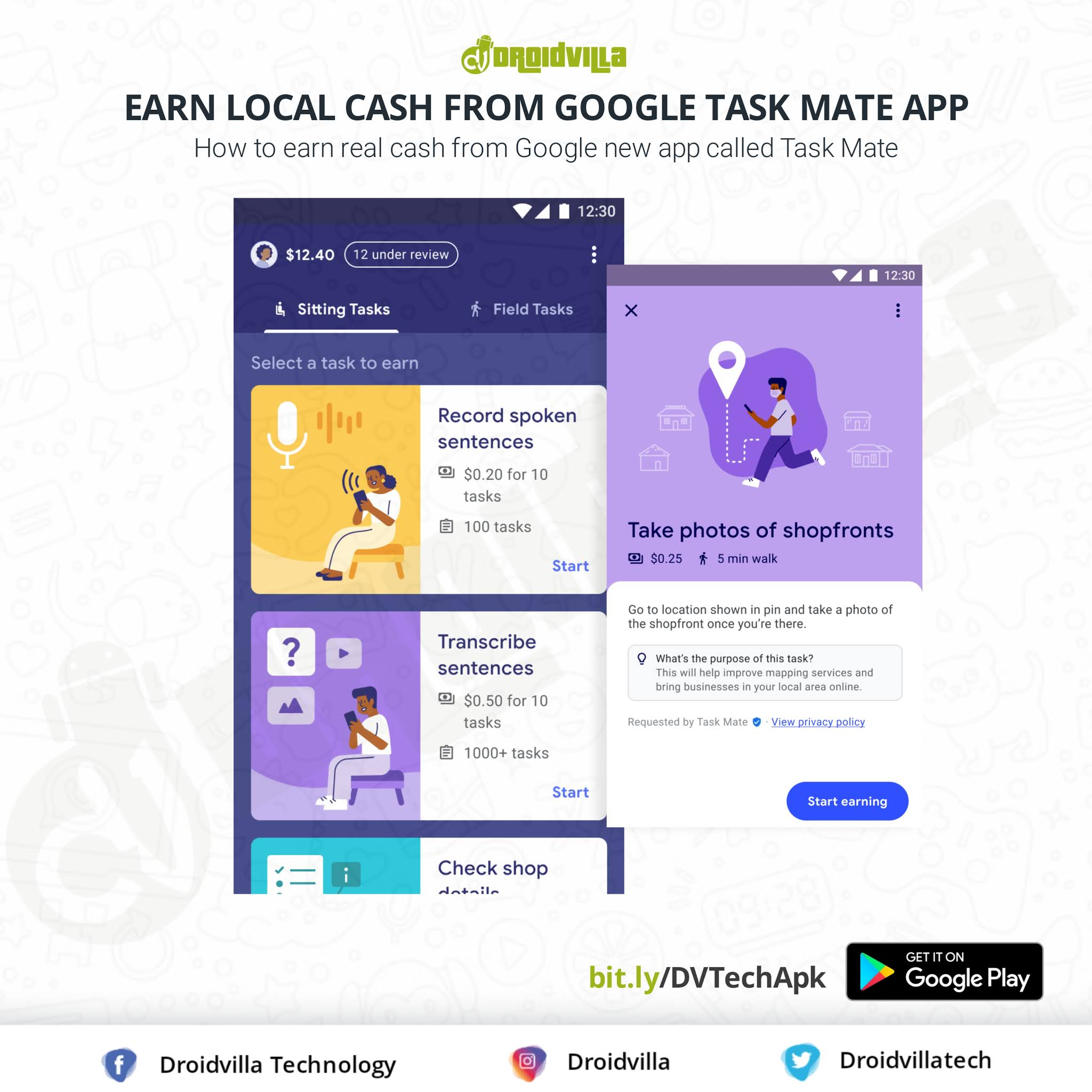 How to earn real cash from Google new app called Task Mate