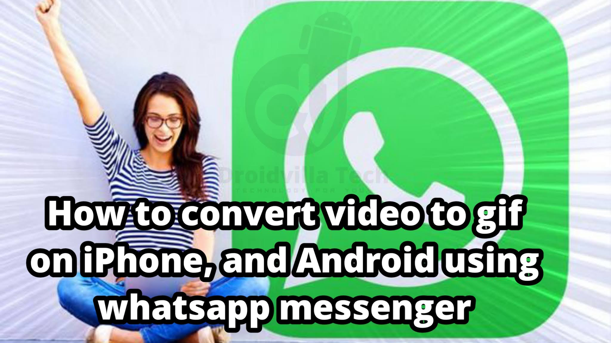 How to convert videos to gif on iPhone, and Android without third-party app