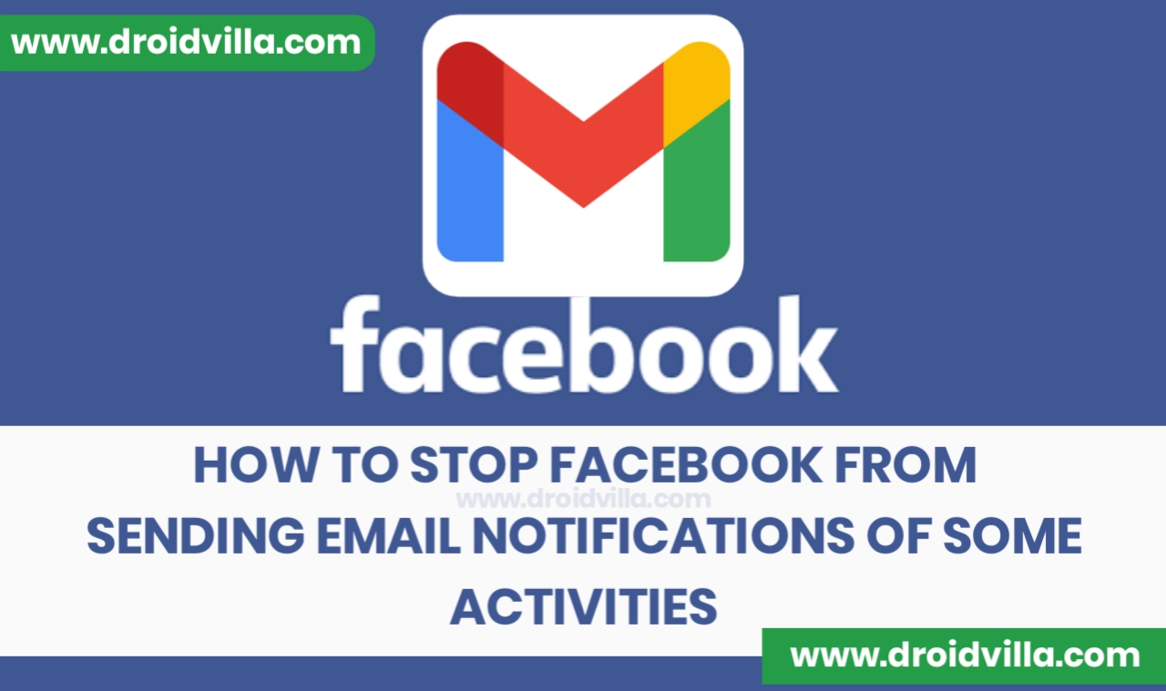 Stop facebook email notifications