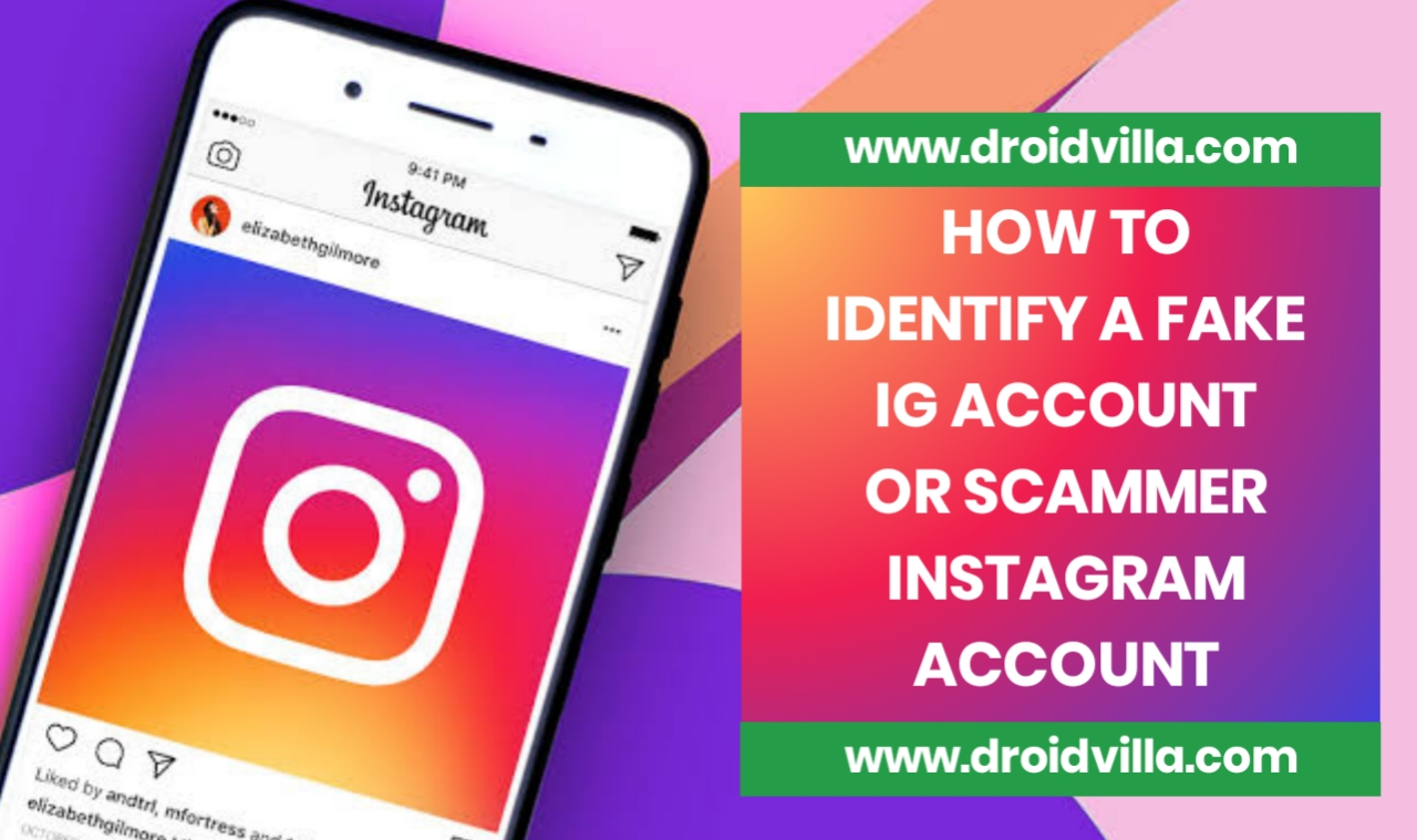How to identify a fake ig account or scammer Instagram account