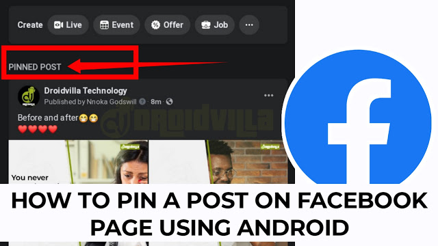 How to pin a post on Facebook page using Android