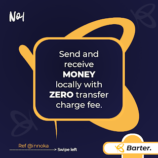 Send and receive money on getbarter mobile app for free