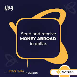 Send and receive dollar on getbarter mobile app