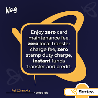 Zero card charges getbarter