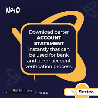 Account statement getbarter mobile