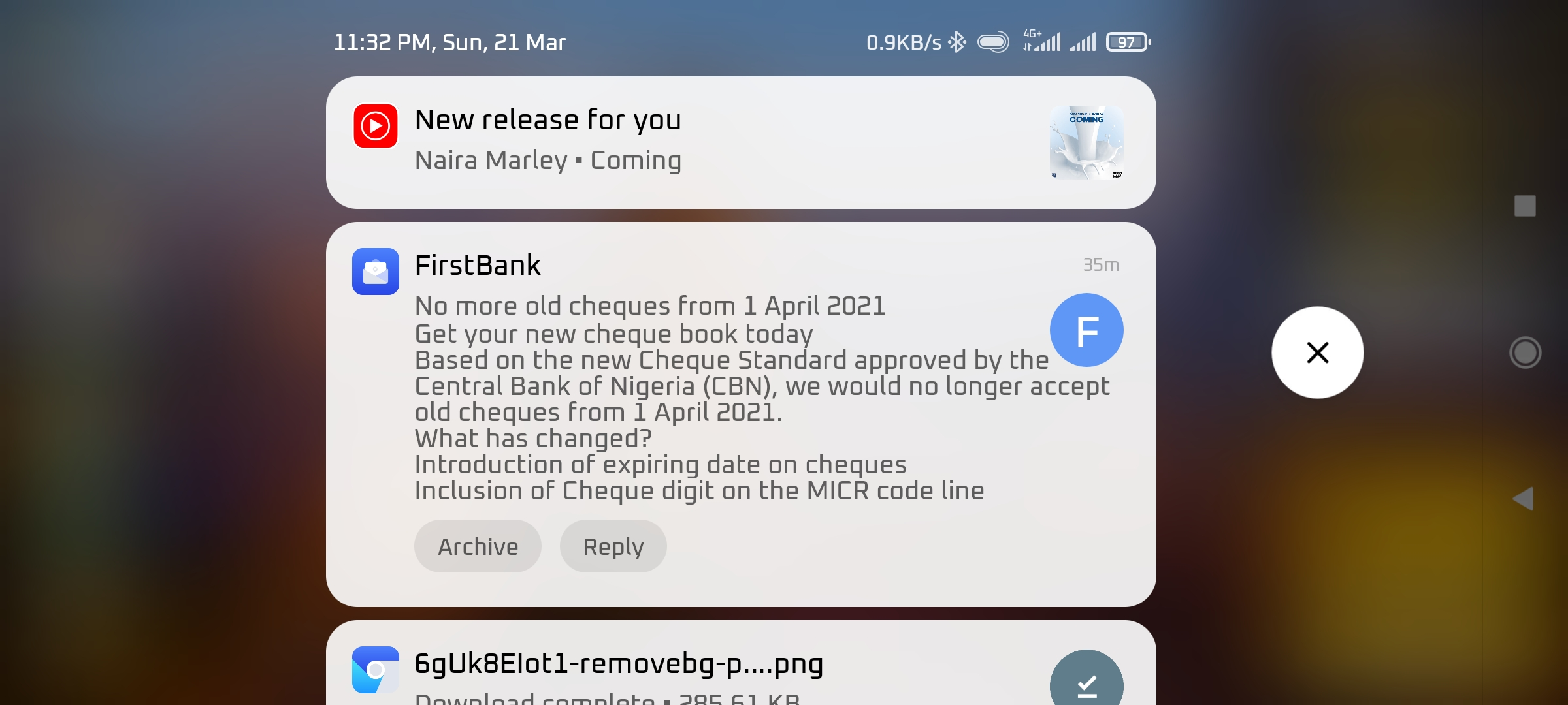 FirstBank Nigeria extends acceptance of old cheques deadline to 1st April 2021