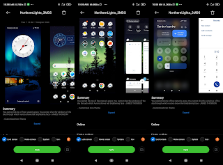 Northernlights_3MD theme for xiaomi Redmi