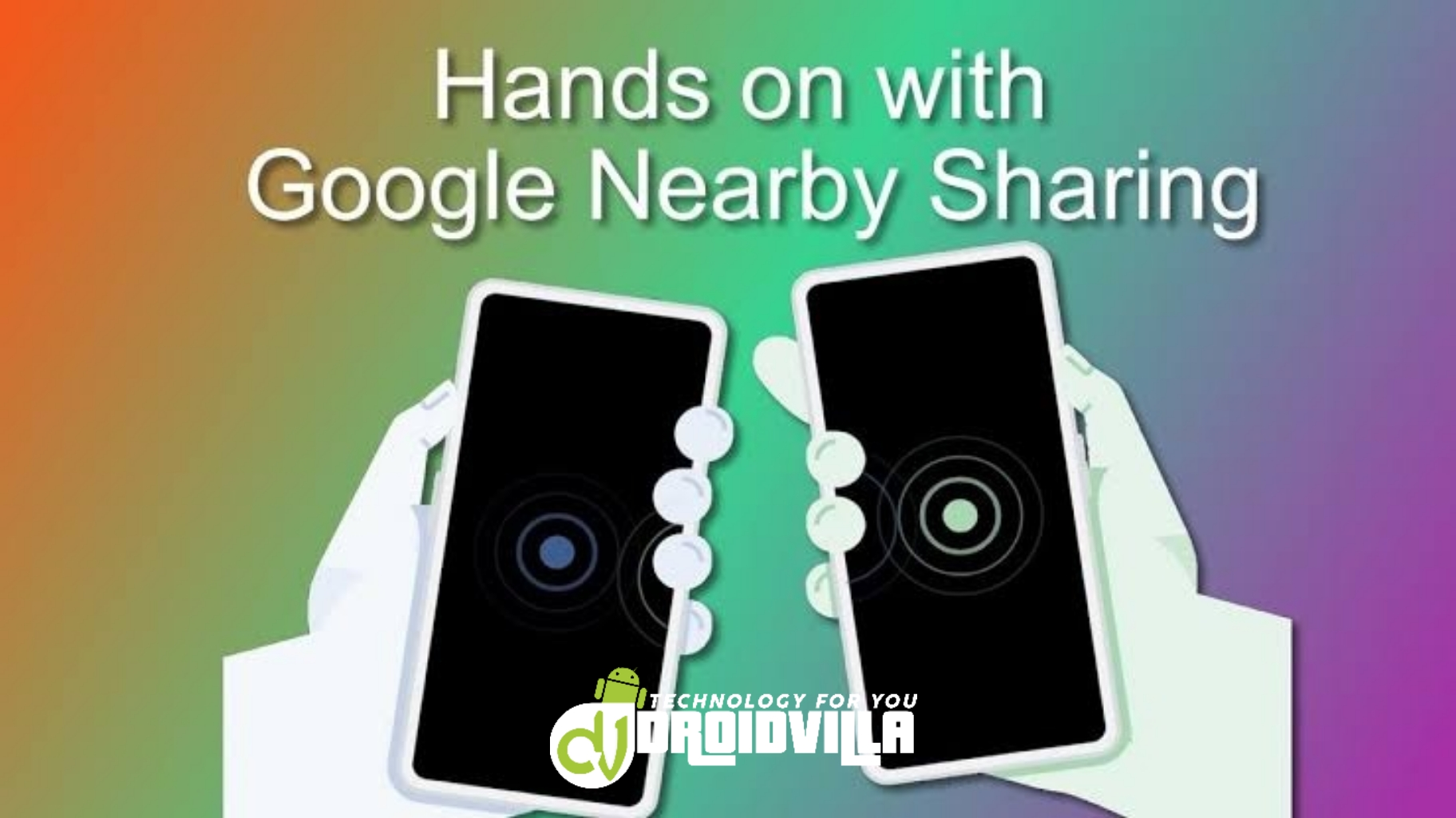 Google's nearby sharing feature
