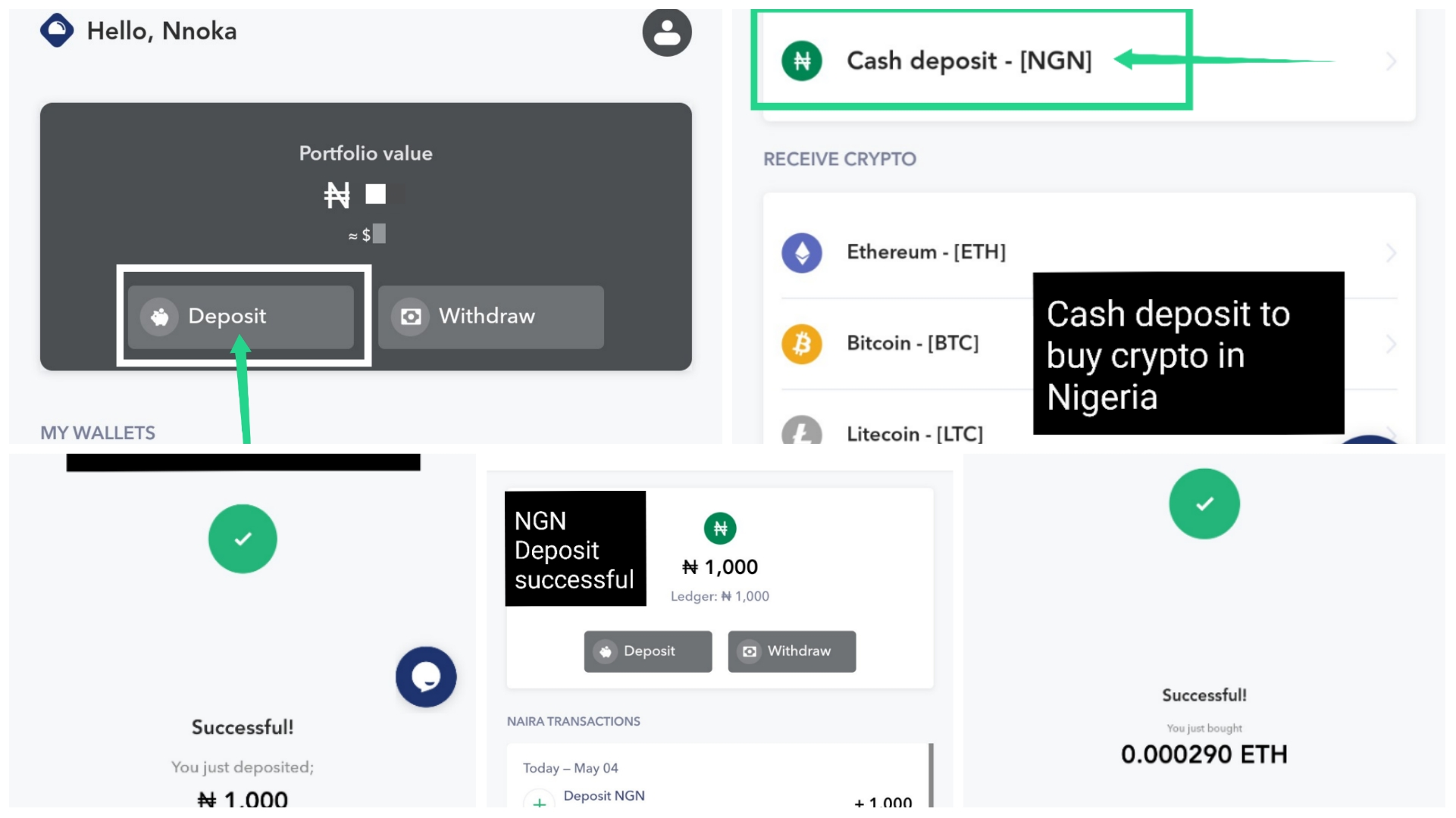 How To Deposit Naira and Buy Crypto in Nigeria on Flitaa