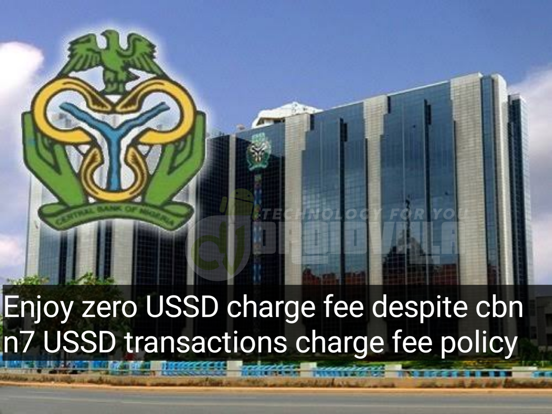 Enjoy zero USSD charge fee despite cbn n7 USSD transactions charge fee policy