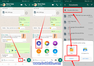 How to send full HD images on whatsapp as document