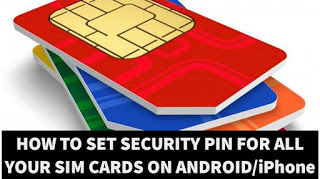 How to set security pin for all your sim cards